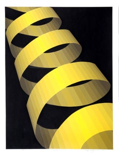"""Ascension"", Op Art Serigraph by Roy Ahlgren"