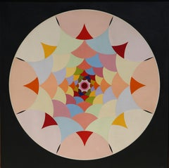 Large Geometric Abstract Painting by Max Epstein