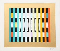 Counter Rhythm 6, OP Art Print by Yaacov Agam