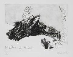 """""""Melba by Malcolm"""" Etching by Malcolm Morley"""
