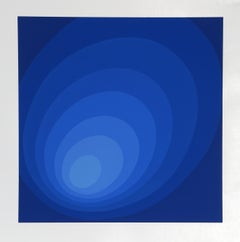 Blue Ombre Circle by Leonid