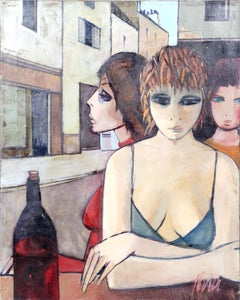 Femmes Au Bar, Oil Painting by Charles Levier
