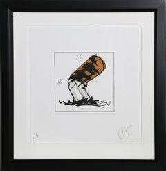 Cigarette Butt, Lithograph by Claes Oldenburg