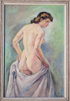 Standing Nude Oil Painting by Robert Philipp
