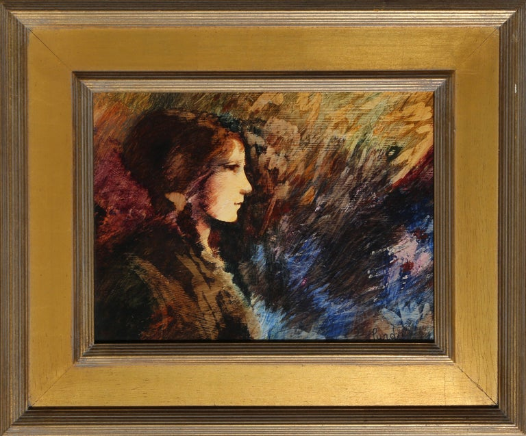 Profile of a Young Girl, Painting by Donald Roy Purdy