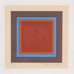 Homage to the Square, Framed Silkscreen by Tashimoto