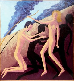 Adam and Eve, Large Painting by Russ Warren