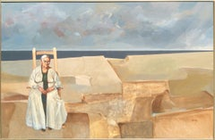 Grandmother at Shore, Large Painting by John Hardy