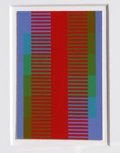 Annual Edition, OP Art Silkscreen by Anuszkiewicz 1974