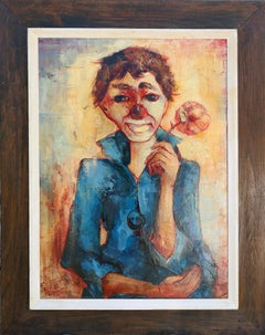 Clown Boy from Paris, Oil Painting by Felix Felmart 1964