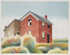 Homestead, Lithograph by Clarence Holbrook Carter