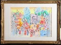 Arc de Triomphe, Watercolor Painting by Charles Cobelle