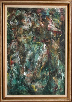 Two Abstract Figures, Oil Painting by John Uht