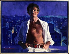 Portrait Over Manhattan, Oil Painting by Jon Whitcomb