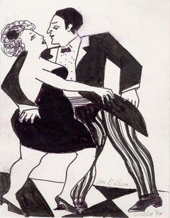 Tango, Ink Drawing by John Grillo
