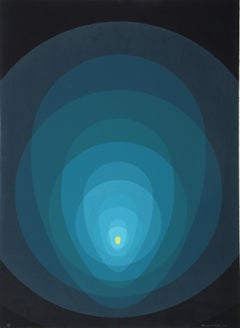 Blue Mandala, Silkscreen by Clarence Holbrook Cater