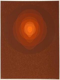 Brown Mandala, Silkscreen by Clarence Holbrook Carter