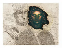 Priestess (Green), Etching and Aquatint by Saint Clair Cemin