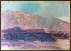 New Mexico Landscape, Large Painting by Suzanne Martyl 1974