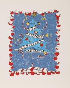 Untitled (Christmas Tree), Screenprint by Joe Zucker