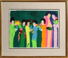 Seven Geishas, Painting by Walasse Ting