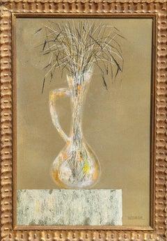 Flower Vase, Oil Painting by Leonardo Nierman