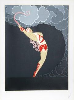 The Dancer, Art Deco Serigraph by Erté