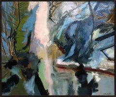 Jizera, Large Abstract Painting by Ladislav Karousek