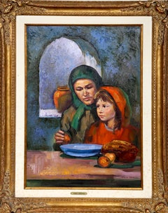 Mother and Daughter, Oil Painting by Sandu Liberman