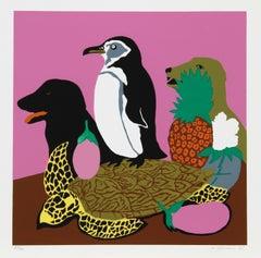 Tortoise, Pop Art Serigraph by Hunt Slonem