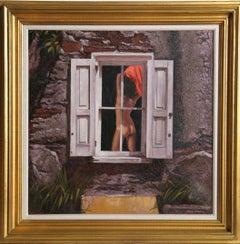 Nude in the Window, Oil Painting by Sandu Liberman
