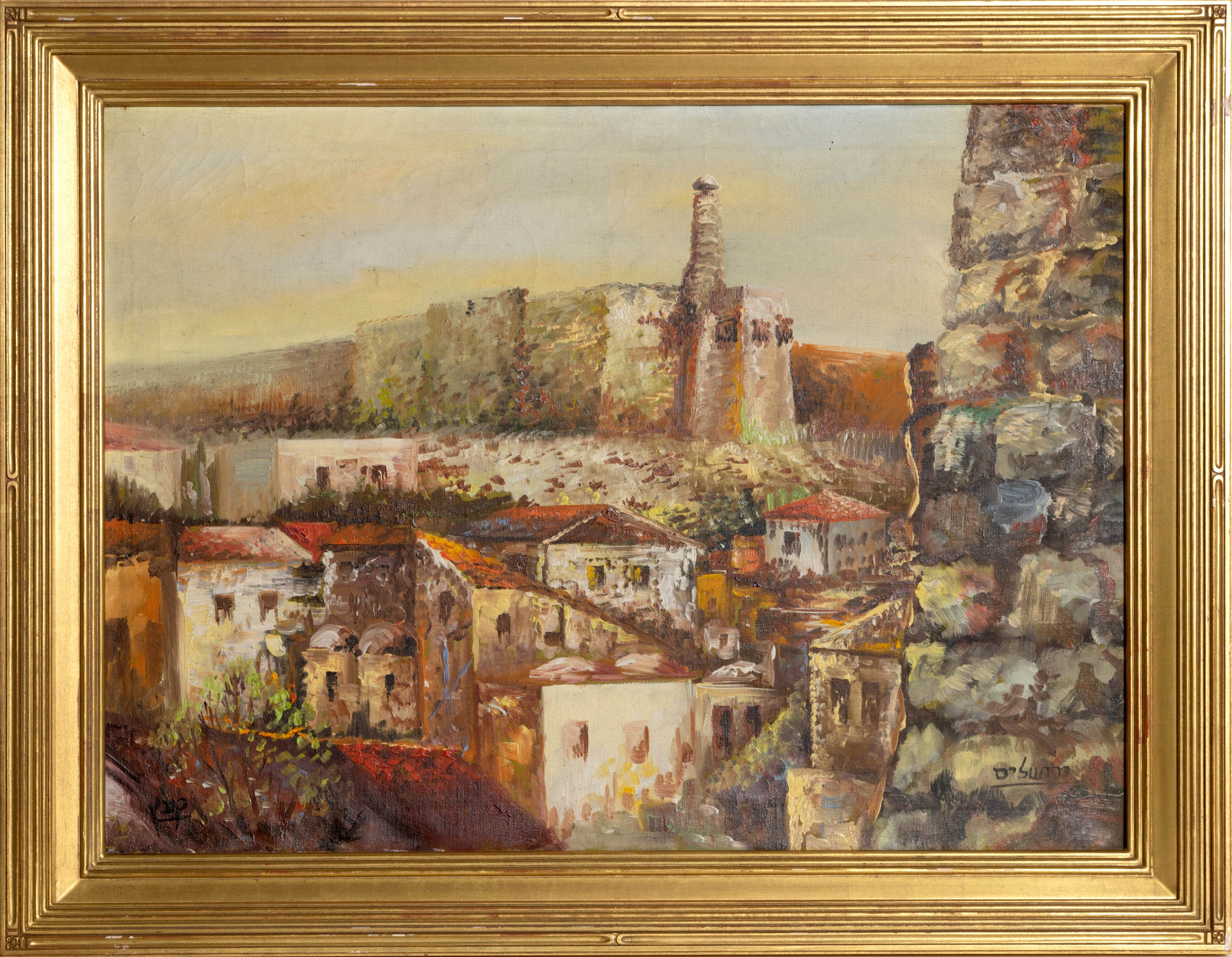 View of Jerusalem, Landscape Oil Painting