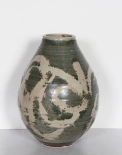Glazed Green Ceramic Vase