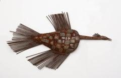 #1 Bird, Hand-Welded Bronze, Copper and Iron Sculpture by Delfin