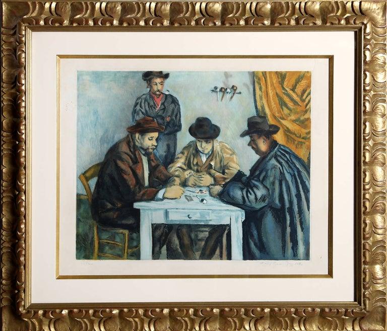 After Paul Cezanne Figurative Print - Les Jouers de Cartes (The Card Players)