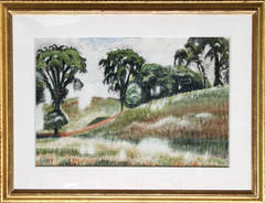 Scene on Windspear Road, Watercolor by Charles Burchfield 1935