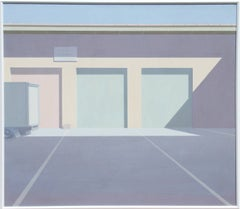 9:23 AM, Minimalist Cityscape Painting by Saul Chase