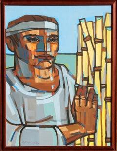 Man with Reeds
