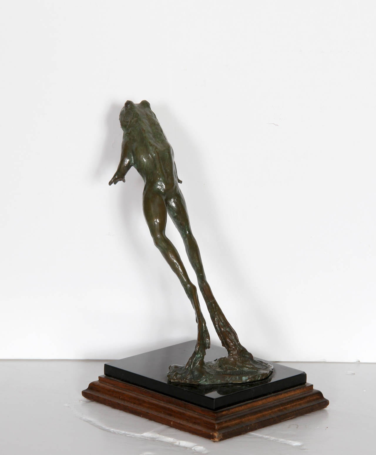 T galbreath leaping frog bronze sculpture for sale at - Bronze sculptures for sale ...