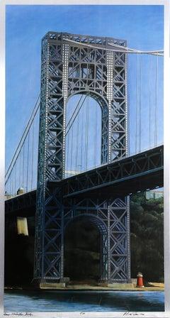 George Washington Bridge, Silkscreen on Aluminum by Richard Haas