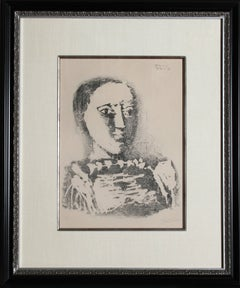Le Chandail brode, 1953 Lithograph by Picasso