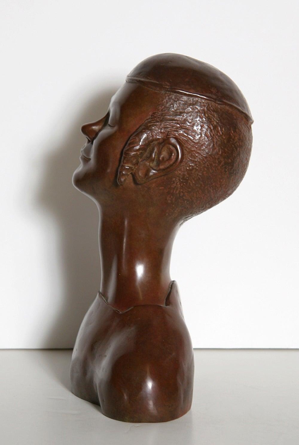 Jewish Boy, Bronze Sculpture by David Schwab For Sale 1