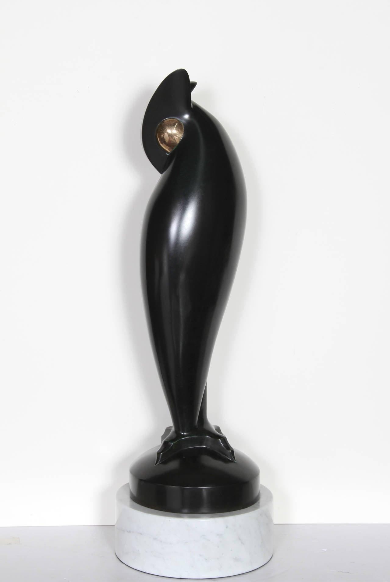 Sleeping Owl, Bronze Sculpture by Antonovici - Brancusi's Protege For Sale 2