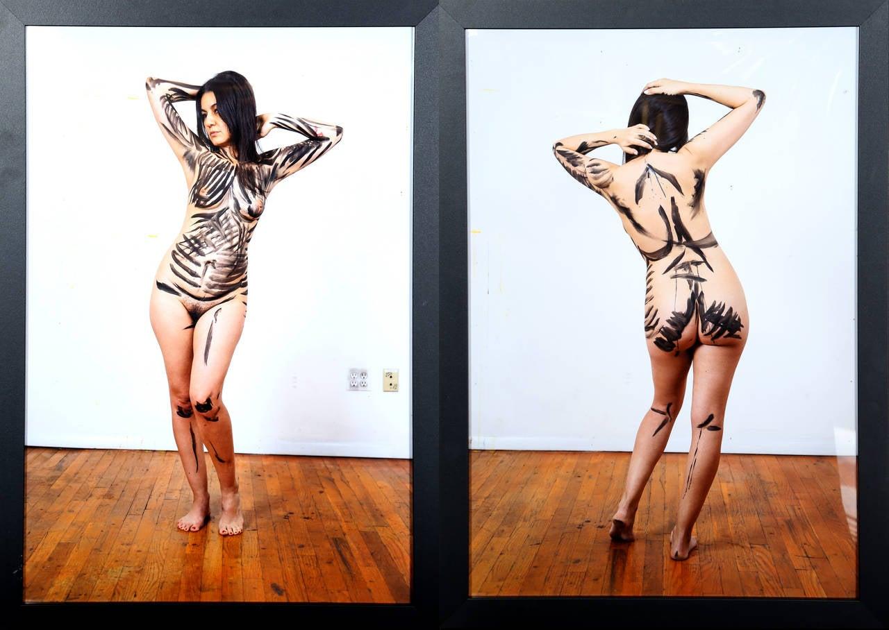 Top-Bottom, Diptych (Aïda Ruilova), 2014, by Raymond Pettibon