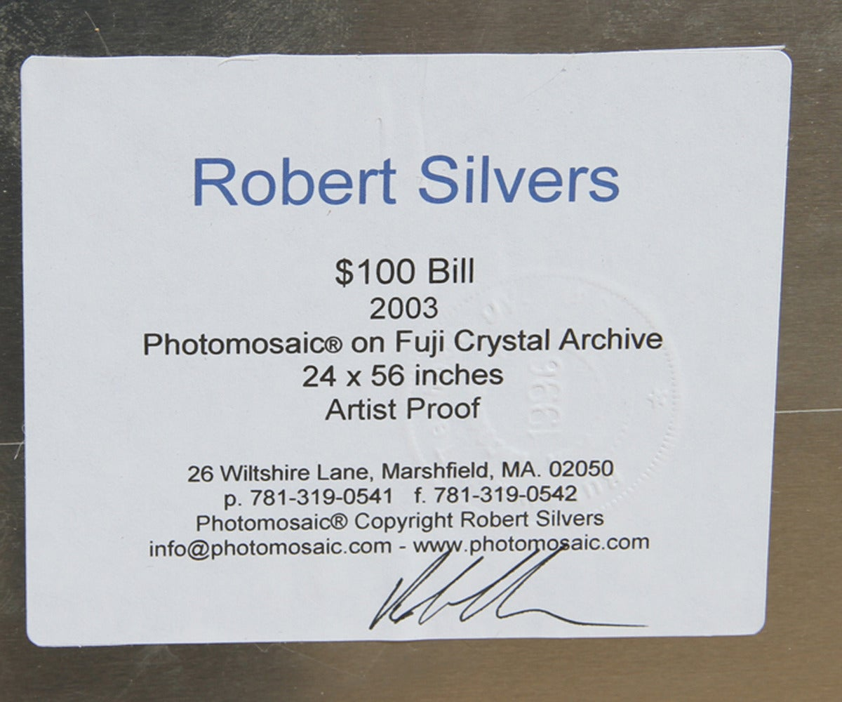 100 Dollar Bill - Modern Photograph by Robert Silvers