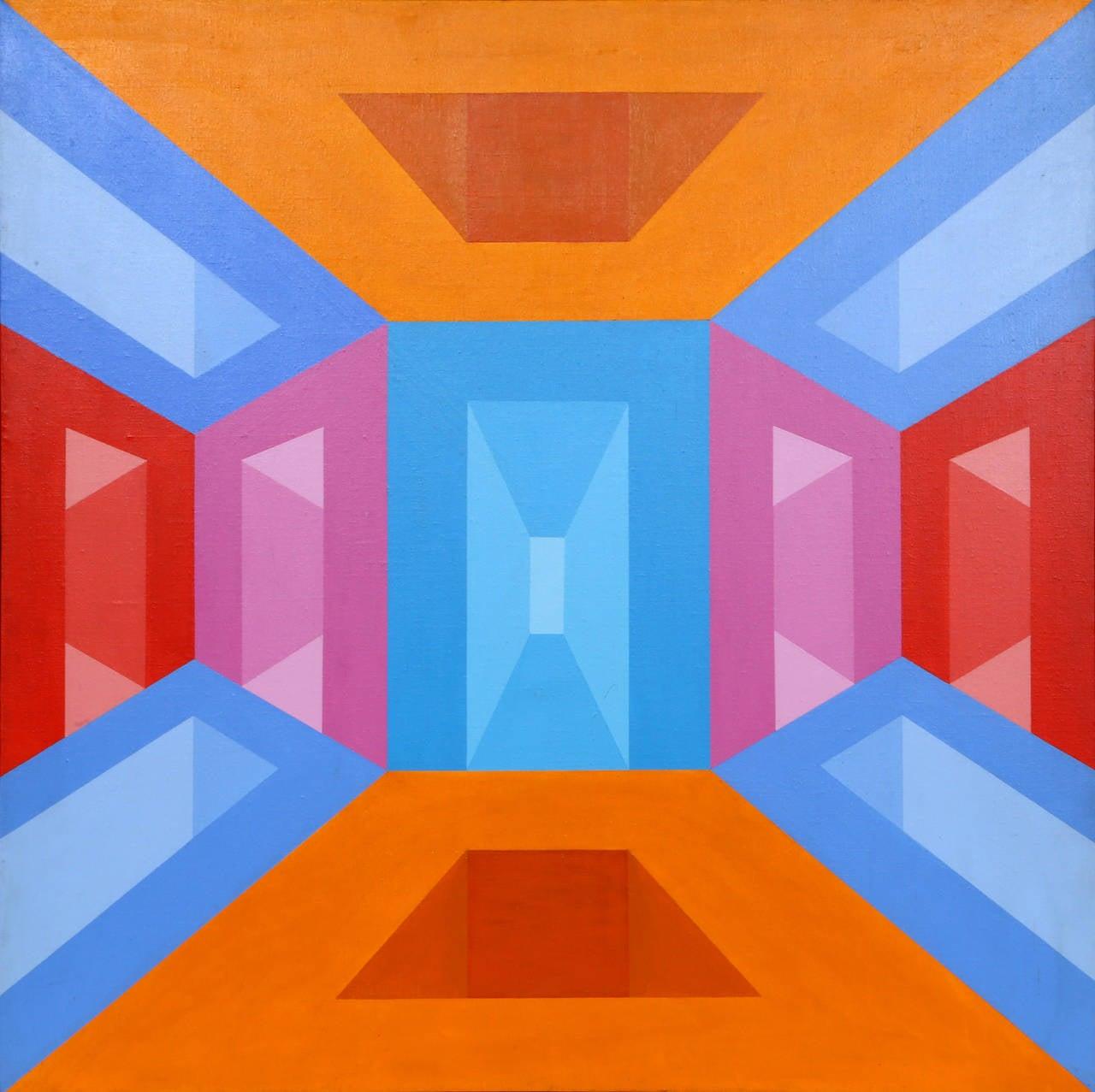 Portals, OP Art Painting by Roy Ahlgren