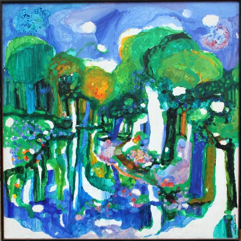 Ronald Julius Christensen Landscape Painting - Path of Blues