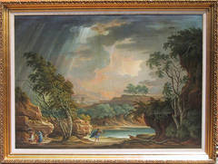 Figures in a Landscape, Oil Painting 1799 by Adolf Harper