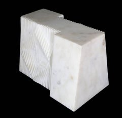 Untitled III, Unique White Marble Modern Sculpture 1972