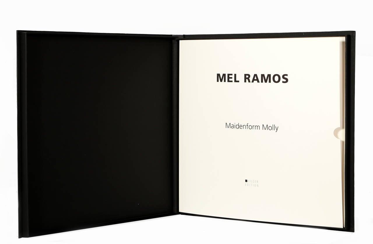 Maidenform Molly - Gold Figurative Print by Mel Ramos